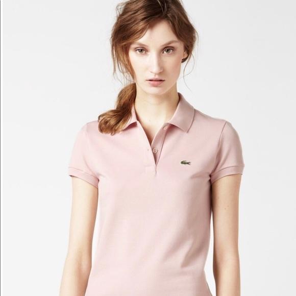 59d71138990 Lacoste Tops   Womens Light Pink Polo New 8950 Sz 42   Poshmark